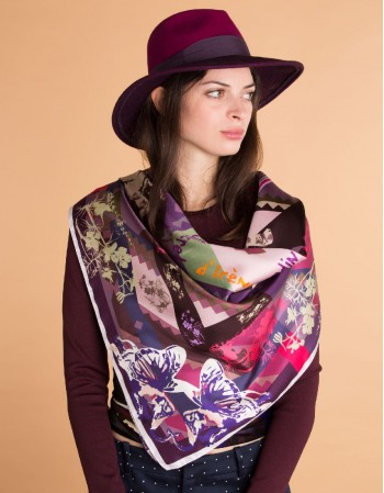 PAPIPHANT DES ORCHIDEES Silk scarf
