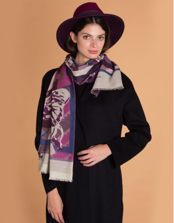 PAPIPHANT VIOLET wool scarf