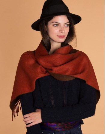 TERRACOTTA wool scarf