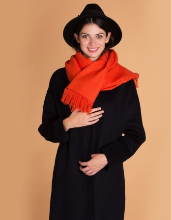 ORANGE wool scarf
