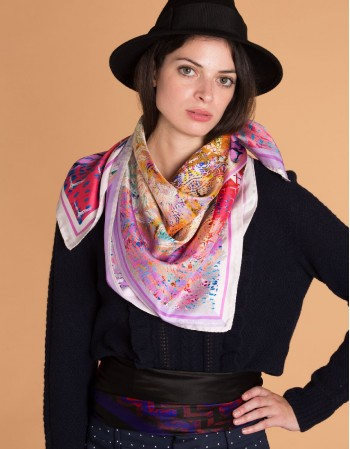 LILY-ROSE Silk scarf