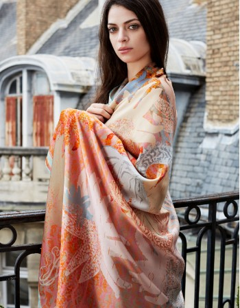Royal DARYA ROSE silk scarf