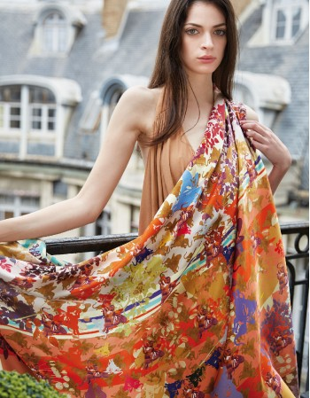 Royal BELLE D'AUTOMNE silk scarf