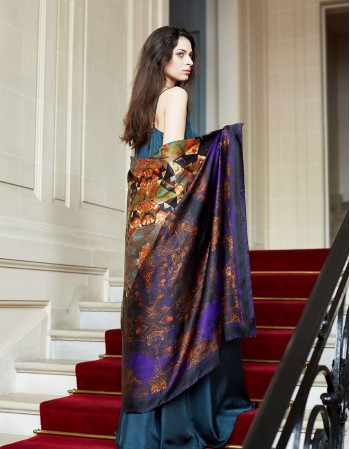 Royal BELLE-ALICE silk scarf
