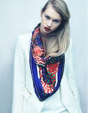 Royal MI silk scarf