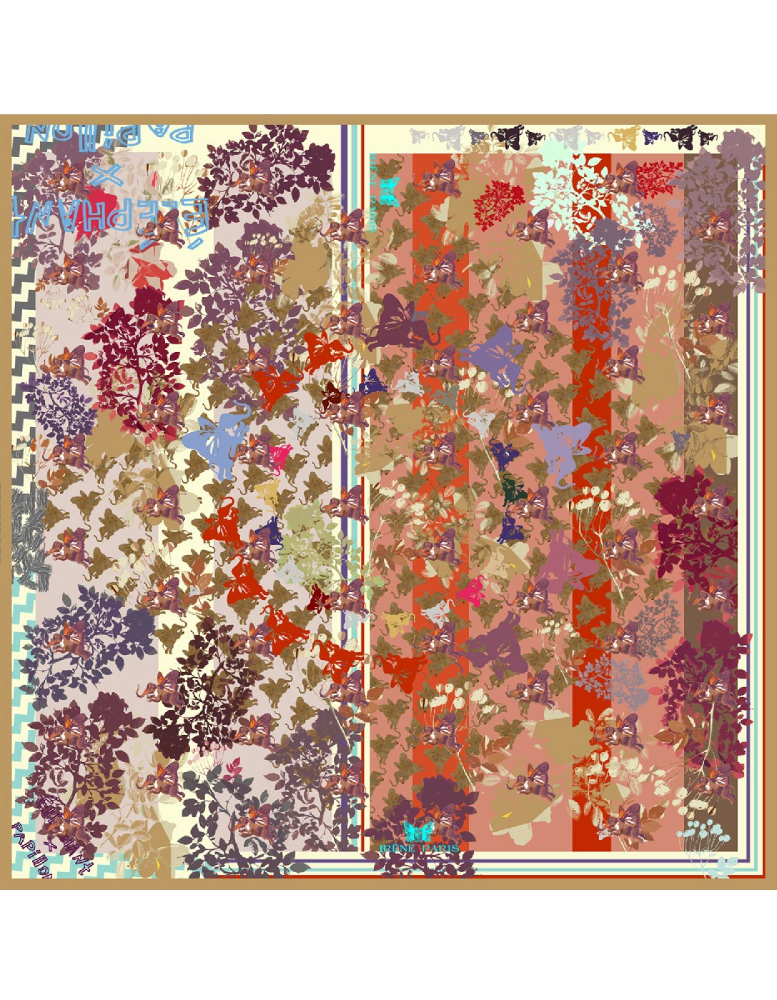 NEW Belle d'automne silk scarf 65x65