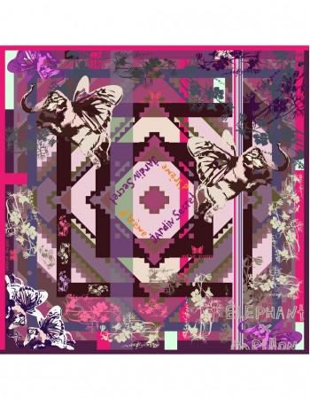 NEW PAPIPHANT DES ORCHIDEES Silk scarf